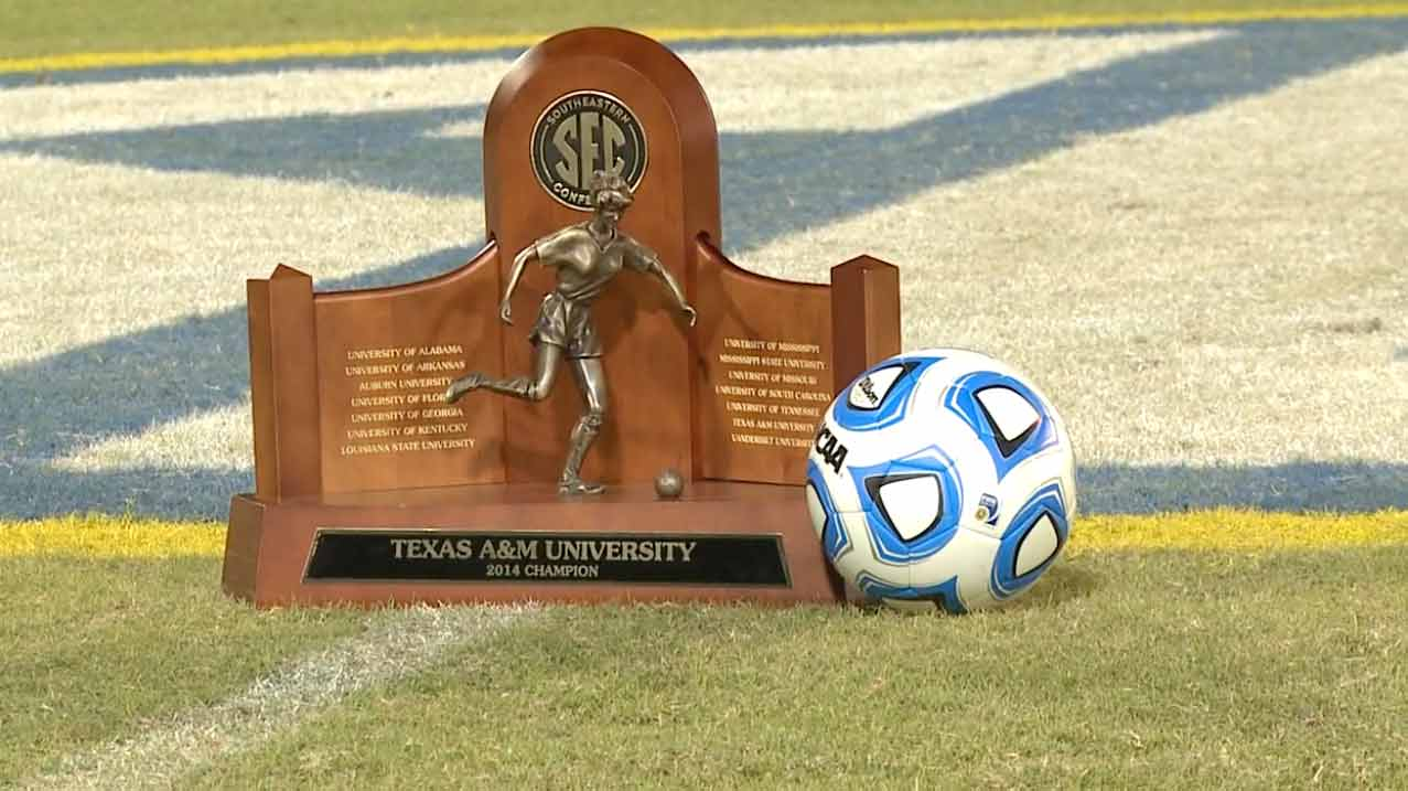 Texas A&M were the 2014 SEC Soccer Champions.
